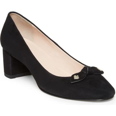 Kate Spade New York Benice Block Heel Pump- Black