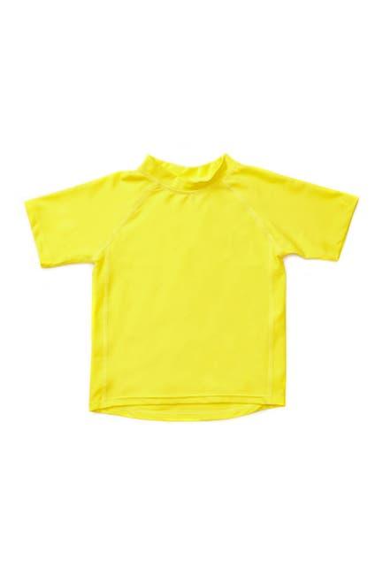 Image of Leveret Short Sleeve UPF +50 Rash Guard - Yellow