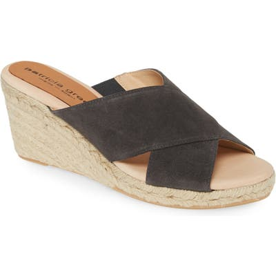 Patricia Green Annabelle Espadrille Wedge Slide Sandal, Grey