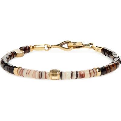 Caputo & Co. Shell & Brass Bead Bracelet