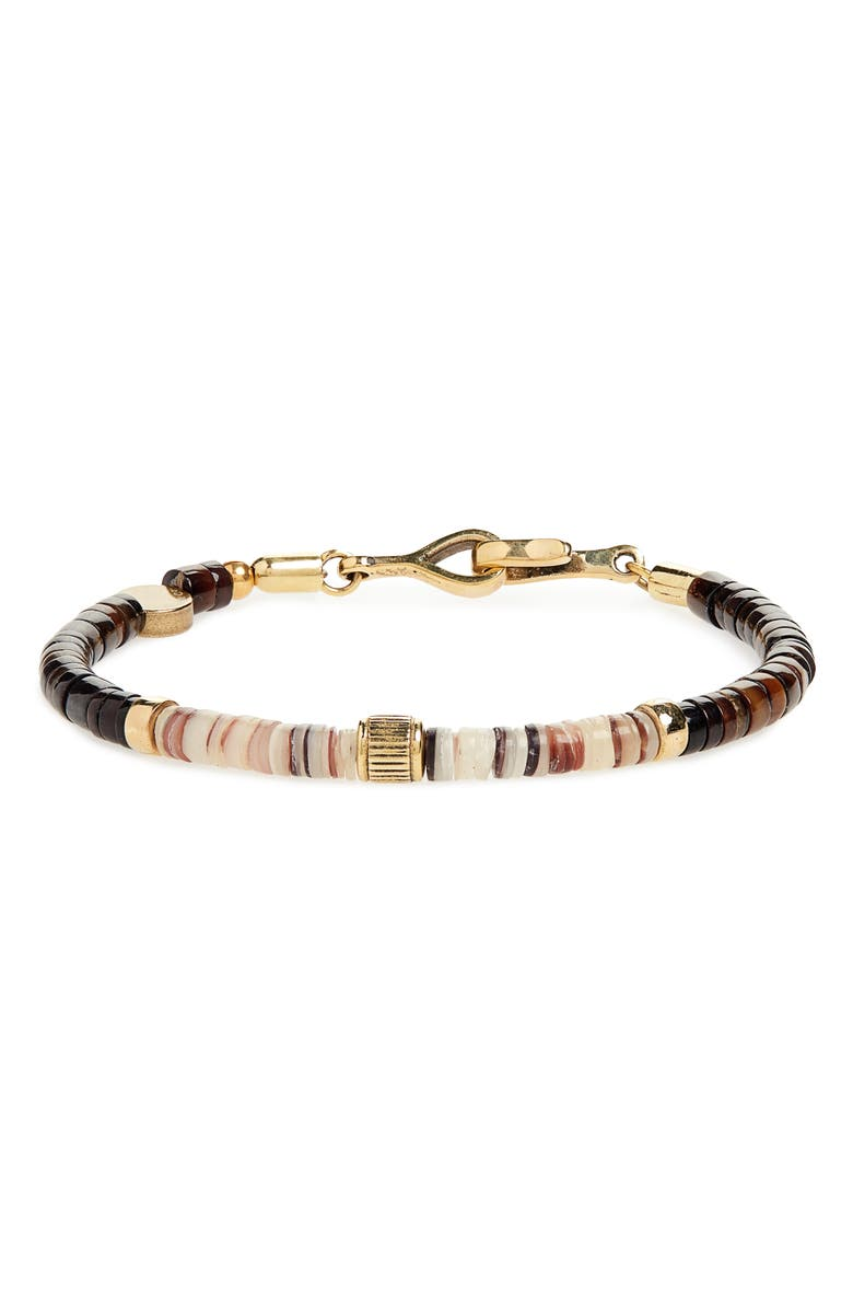 CAPUTO & CO. Shell & Brass Bead Bracelet, Main, color, 209