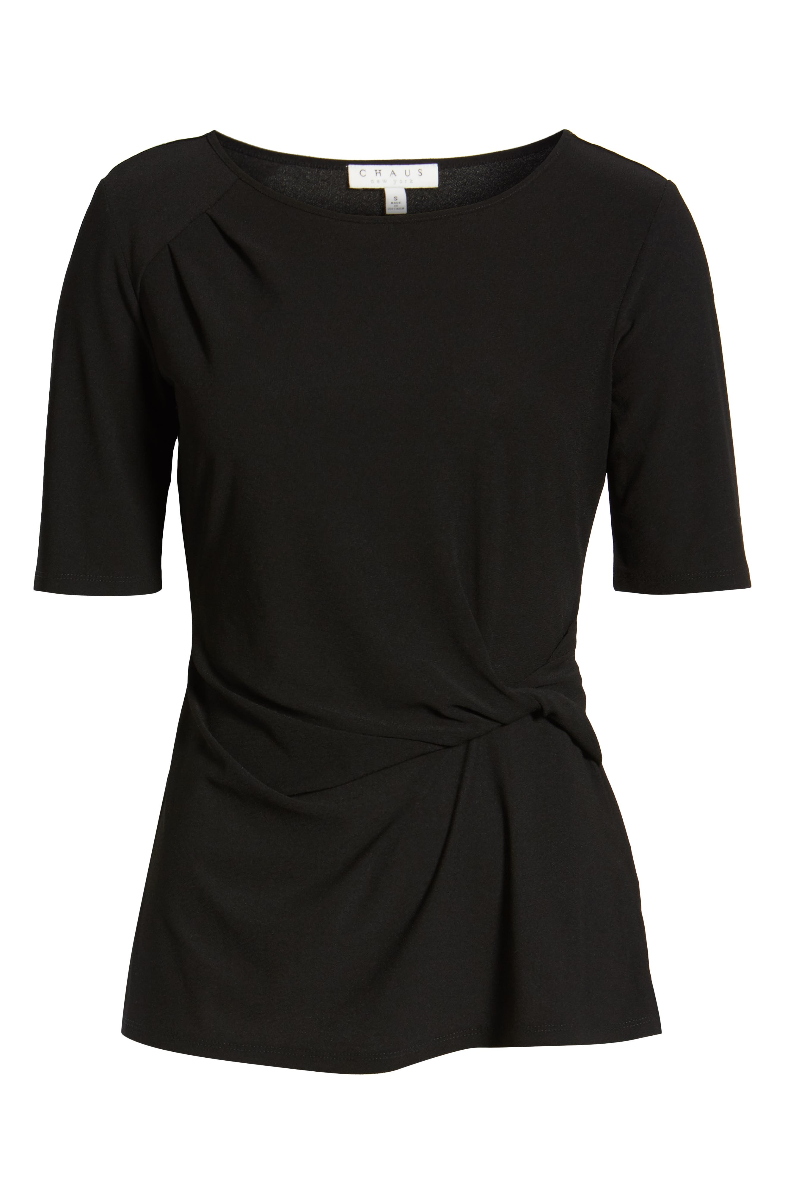 ,                             Side Knot Top,                             Alternate thumbnail 6, color,                             RICH BLACK