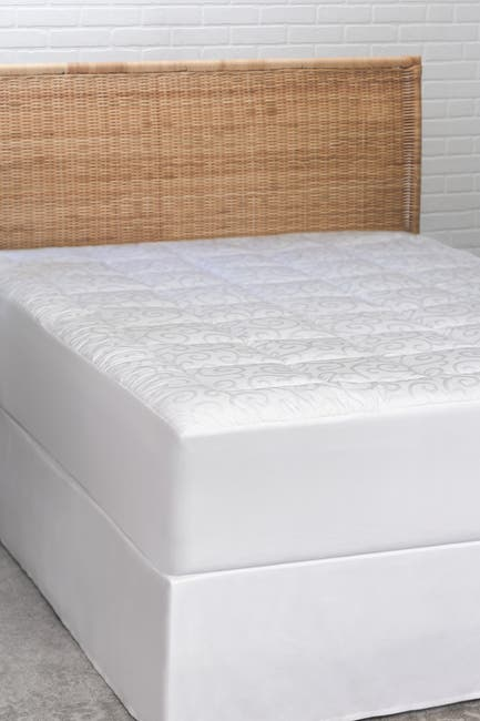 Image of CLIMAREST Candice Olson Full Cotton Jacquard Mattress Pad