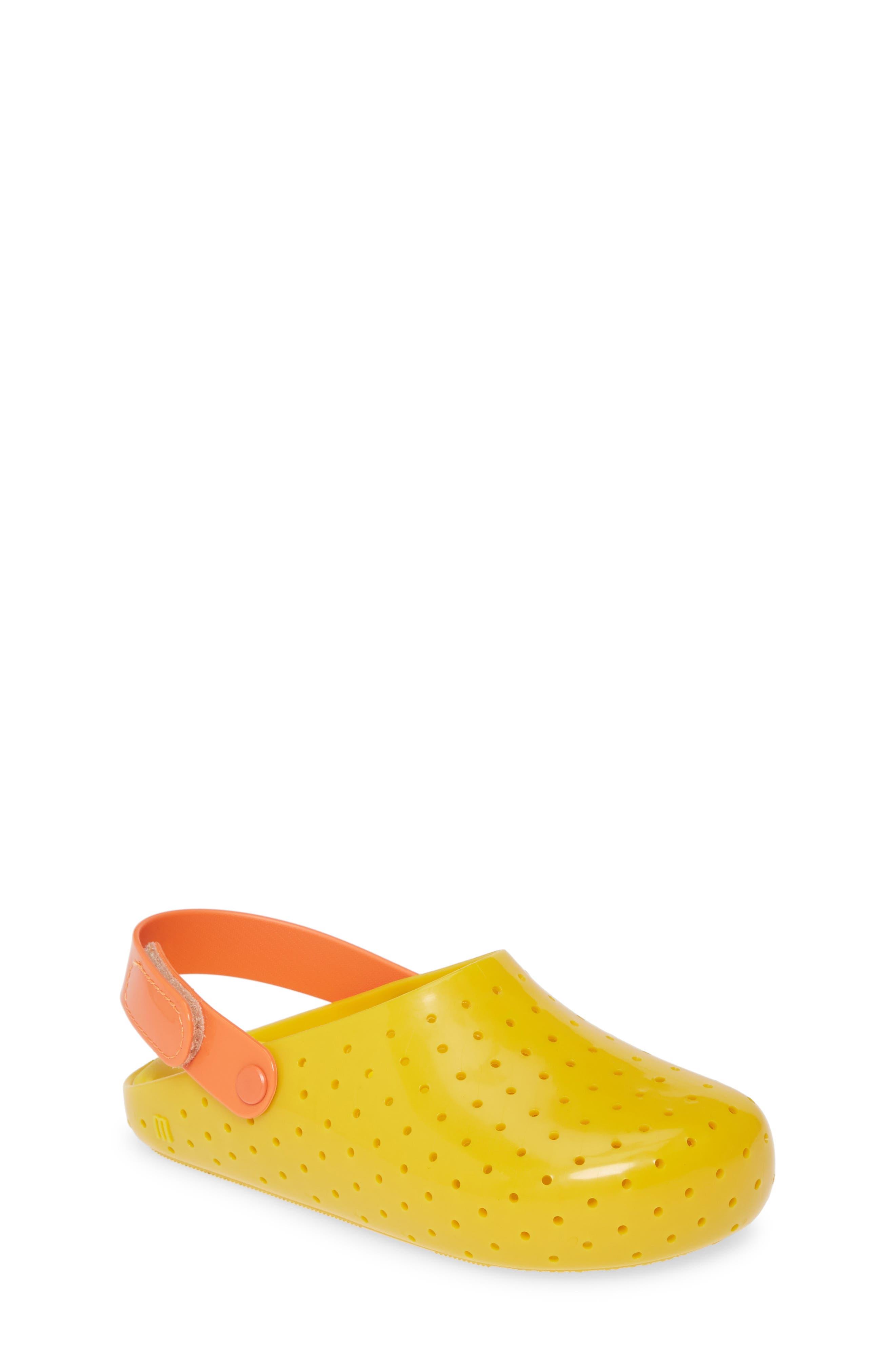 Toddler Girls Melissa Furandi Glitter Clog Size 7 M  Yellow