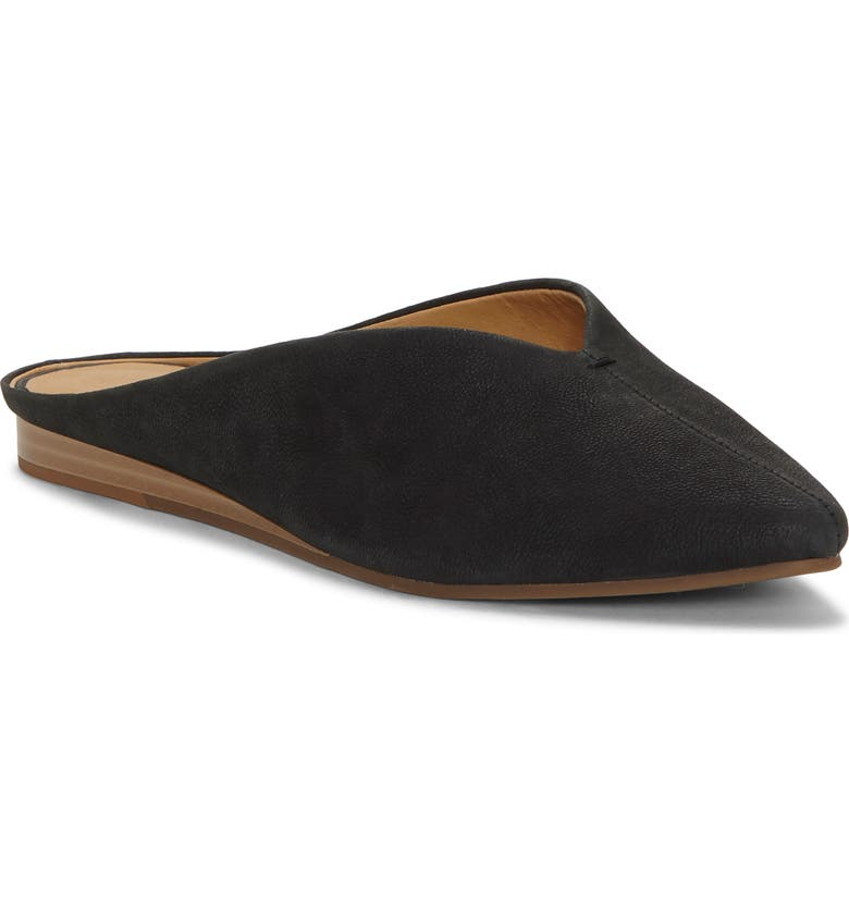 LUCKY BRAND Barbora Pointy Toe Mule, Main, color, BLACK LEATHER