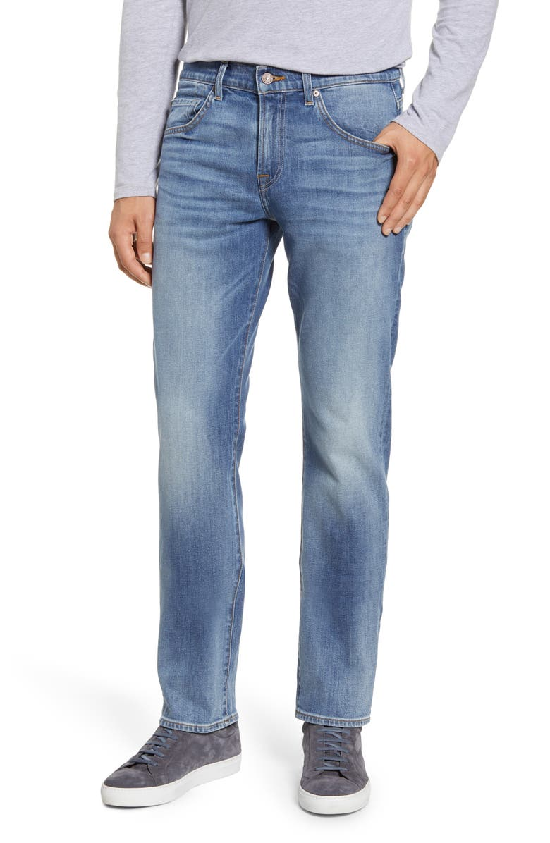 7 FOR ALL MANKIND<SUP>®</SUP> The Straight Slim Straight Leg Jeans, Main, color, PION
