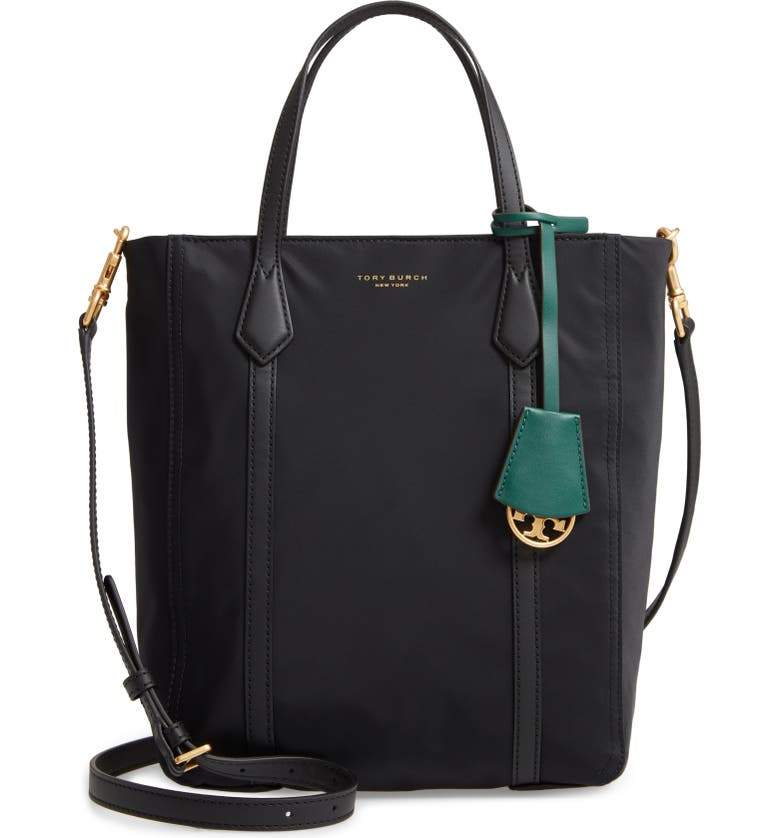 TORY BURCH Perry North/South Nylon Tote, Main, color, 001