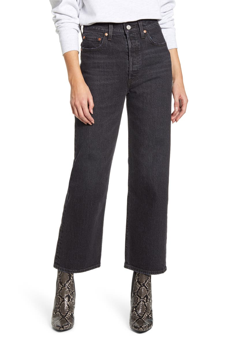 LEVI'S<SUP>®</SUP> Ribcage High Waist Ankle Straight Leg Jeans, Main, color, FEELIN CAGEY