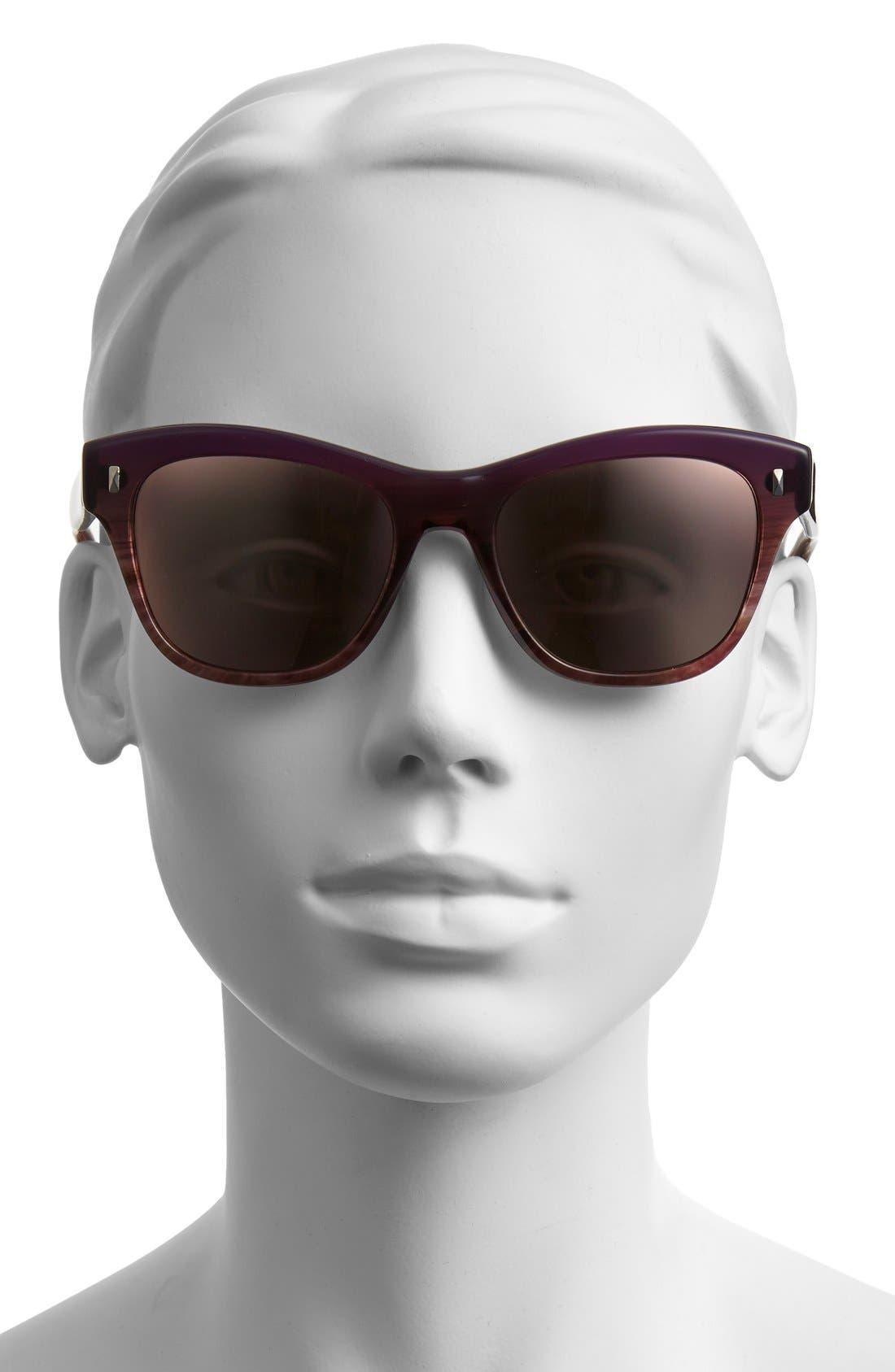 ,                             'Sofee' 53mm Retro Sunglasses,                             Alternate thumbnail 3, color,                             500
