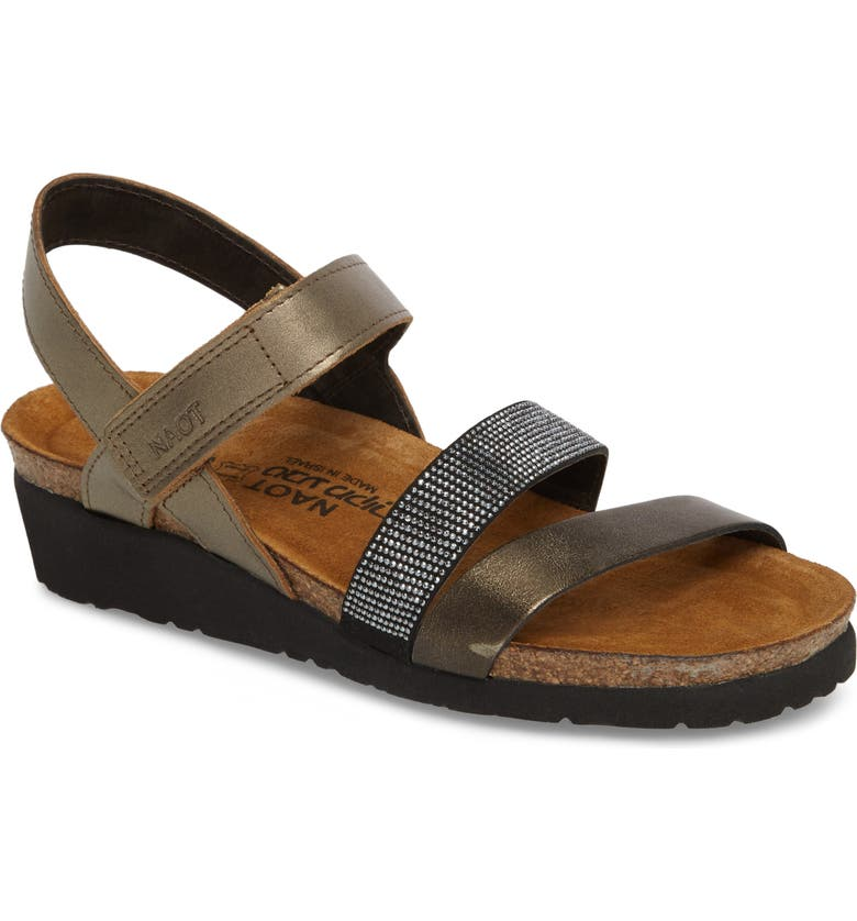 NAOT 'Krista' Sandal, Main, color, PEWTER LEATHER