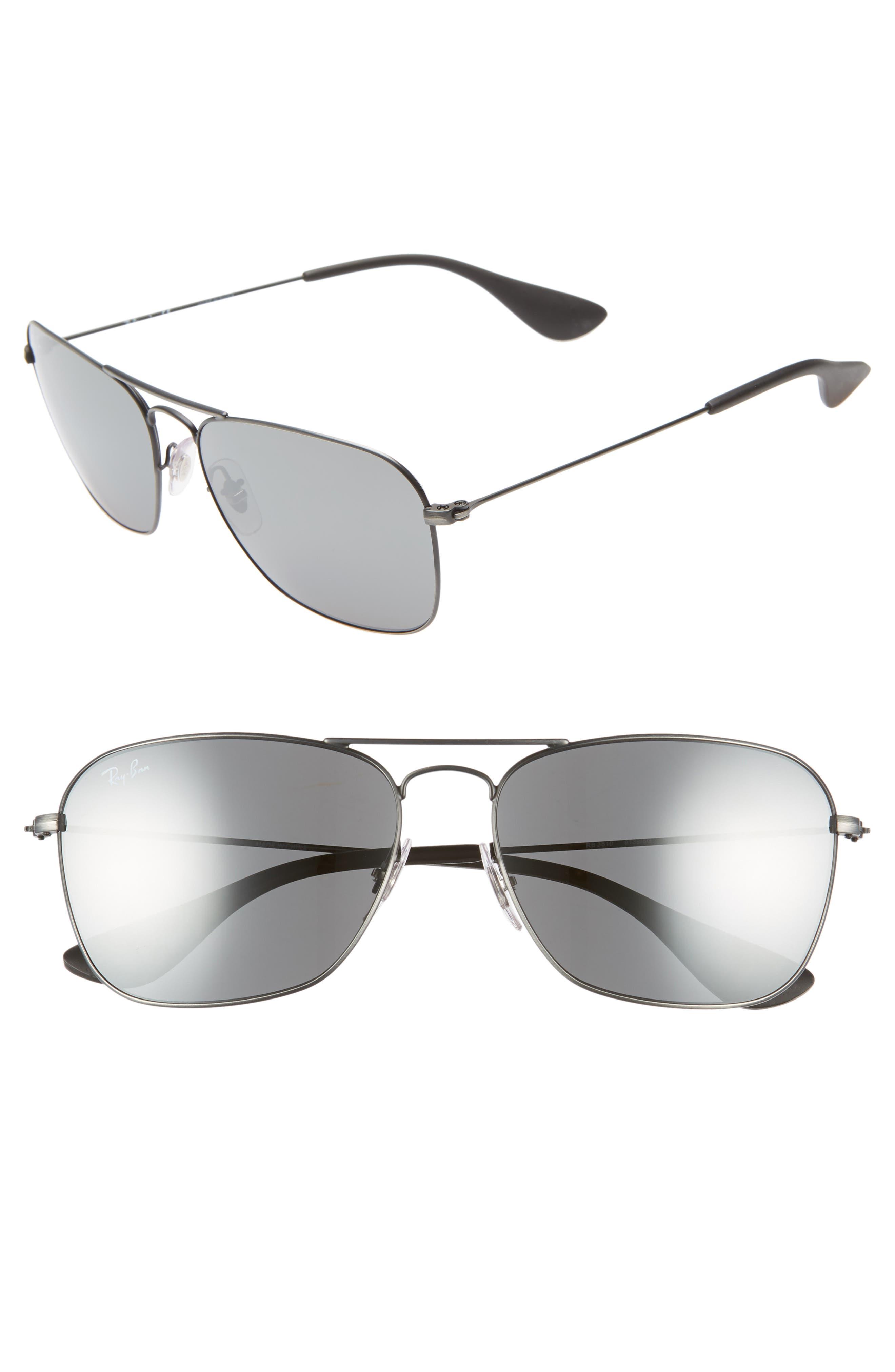 Ray-Ban Navigator 5m Squared Sunglasses - Matte Black