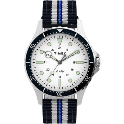 Timex Navi Xl Textile Strap Watch, 41mm