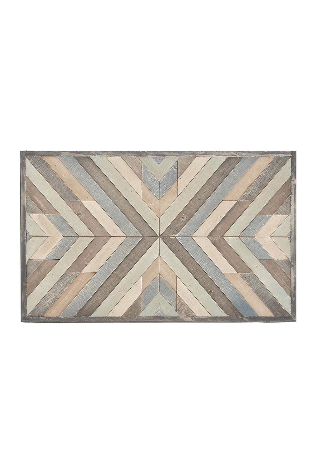Image of Willow Row Multi Rustic Chevron Wall Art
