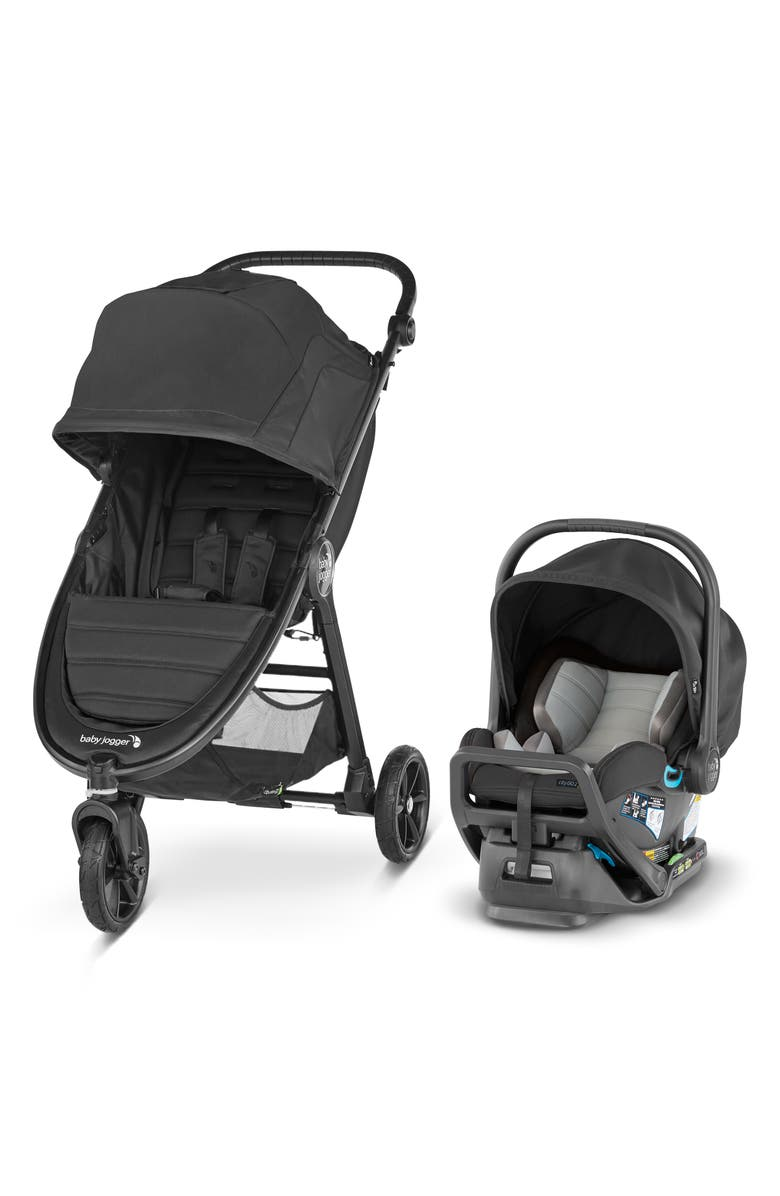 BABY JOGGER City Mini<sup>®</sup> GT2 Stroller & City GO<sup>™</sup> 2 Infant Car Seat Travel System, Main, color, JET
