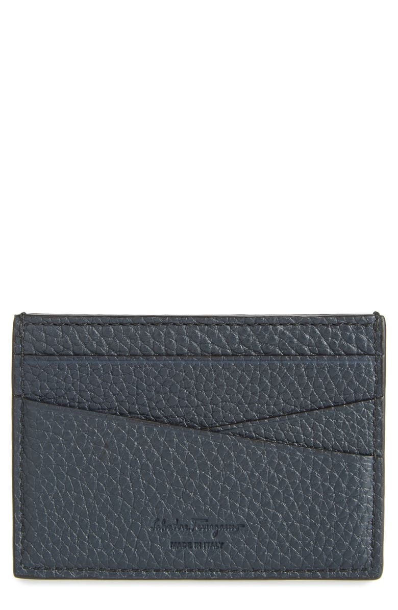 SALVATORE FERRAGAMO New Firenze Leather Card Case, Main, color, 401