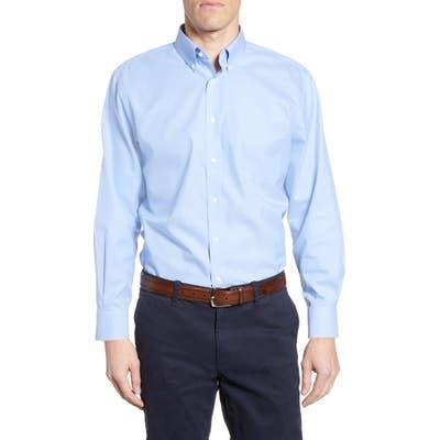 Nordstrom Shop Smartcare(TM) Traditional Fit Pinpoint Dress Shirt - Blue