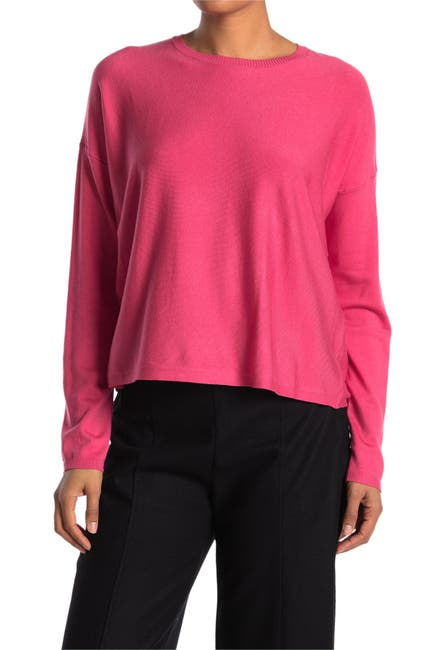 Image of Eileen Fisher Crew Neck Knit Boxy Top
