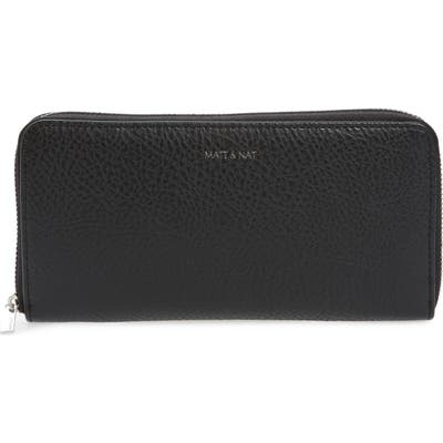 Matt & Nat Zip Around Faux Leather Wallet -