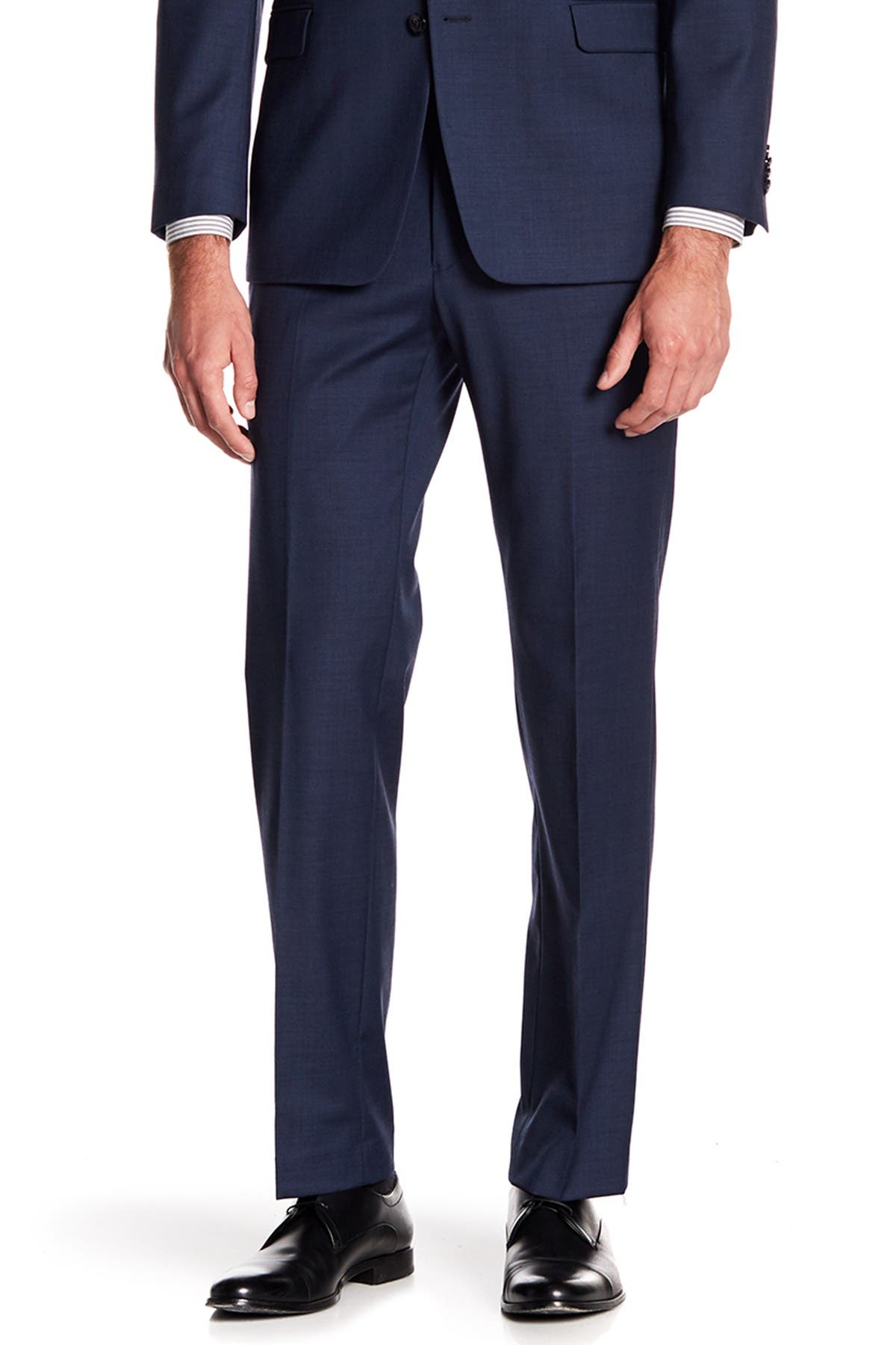 """Image of Tommy Hilfiger Tyler Modern Fit TH Flex Performance Sharkskin Suit Separate Pant - 30-34"""" Inseam"""
