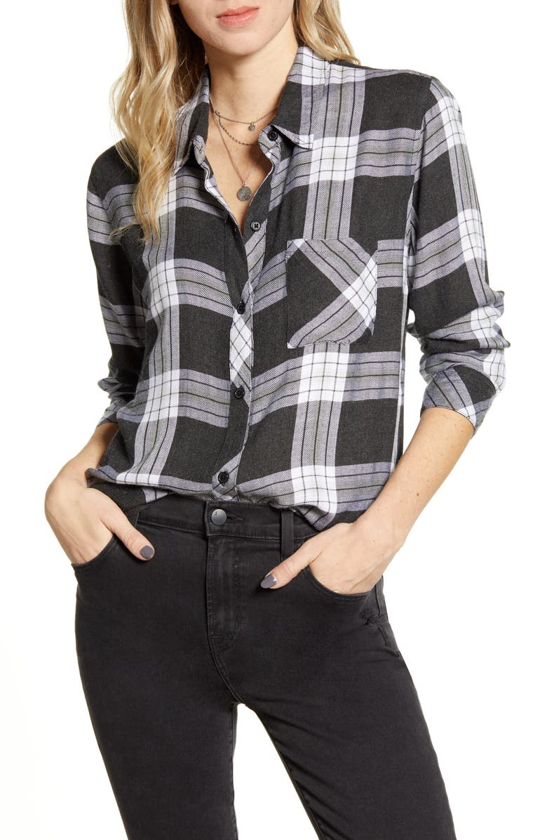 RAILS Hunter Plaid Shirt, Main, color, PEWTER FROST
