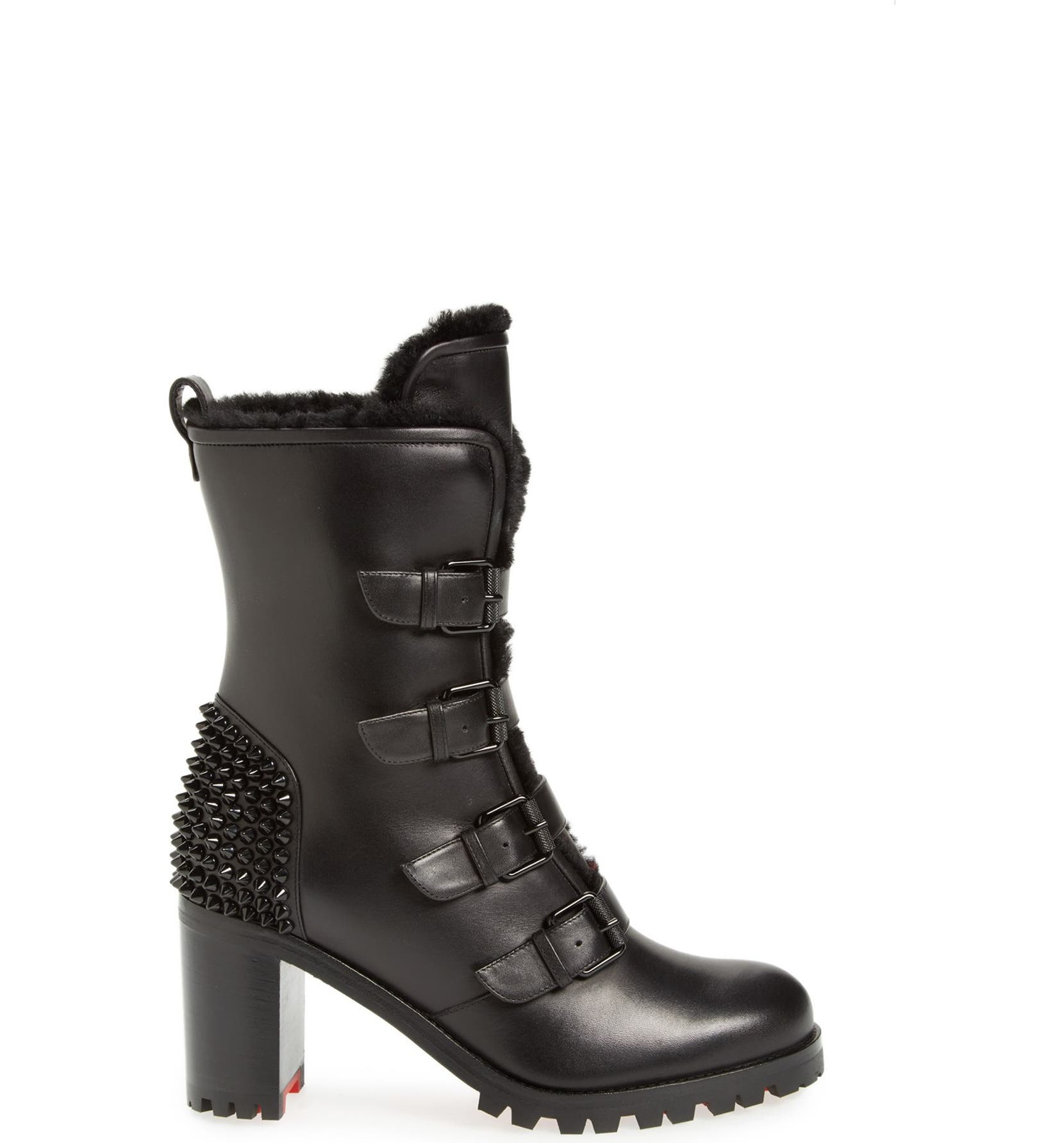 great fit b8a43 6434a Christian Louboutin 'Glorymount' Studded Buckle Boot | Nordstrom