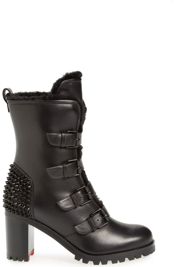 great fit b47d4 7747f Christian Louboutin 'Glorymount' Studded Buckle Boot | Nordstrom