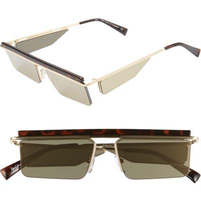 Adam Selman X Le Specs Luxe The Flex 55Mm Semi Rimless Sunglasses - Leopard/ Gold