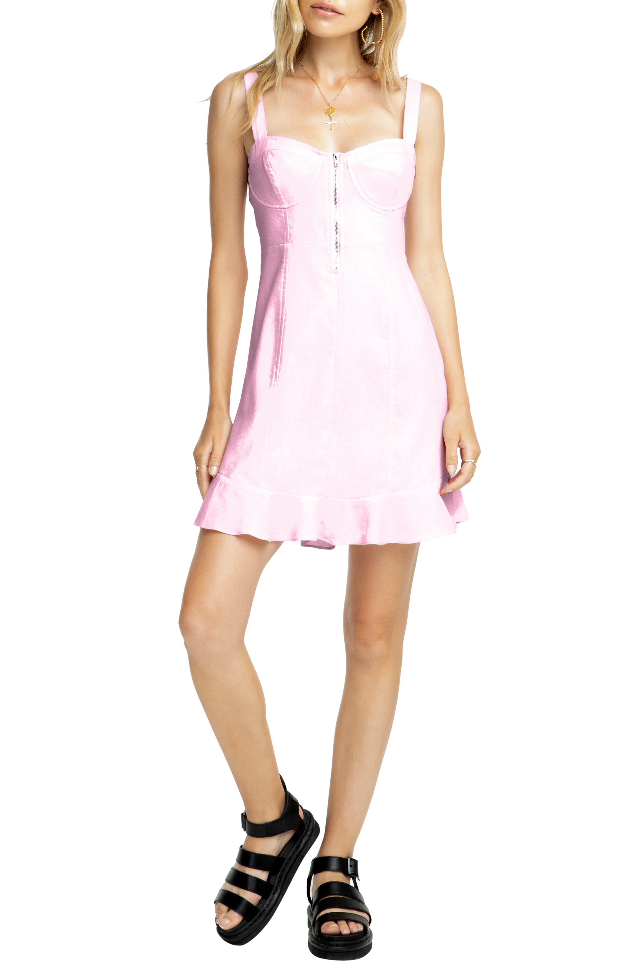 Astr The Label Luca Minidress, Pink