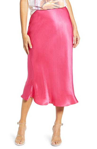 English Factory Flare Midi Skirt In Pink