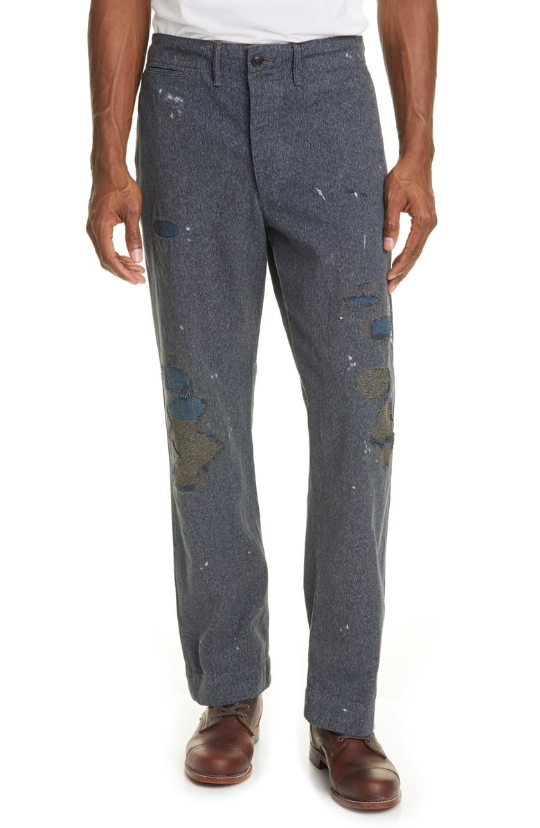 RRL Field Classic Fit Chino Pants, Main, color, NAVY STONEWASH