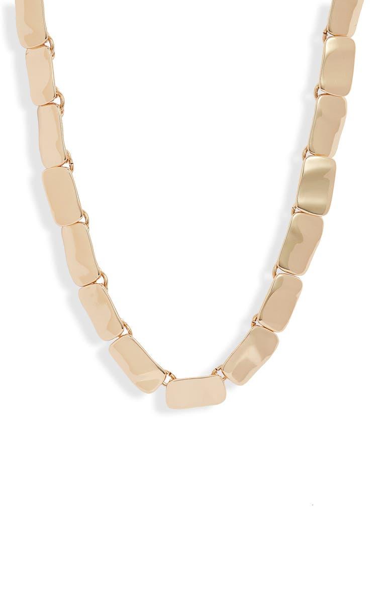 HALOGEN<SUP>®</SUP> Wavy Collar Necklace, Main, color, GOLD