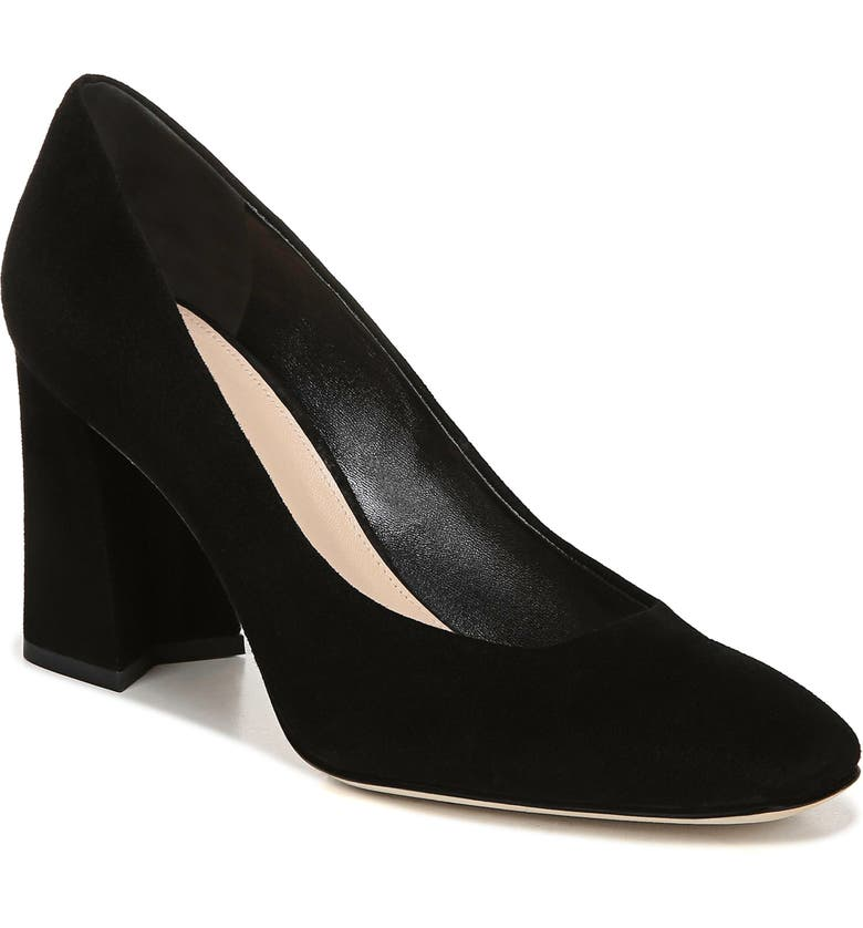 VIA SPIGA Beatrice Leather Pump, Main, color, BLACK SUEDE
