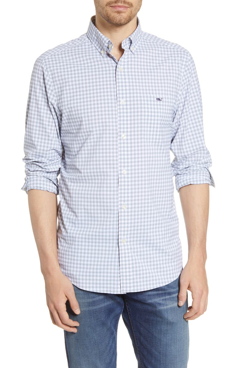 VINEYARD VINES Tucker Evernia Classic Fit Check Button-Down Performance Shirt, Main, color, 050