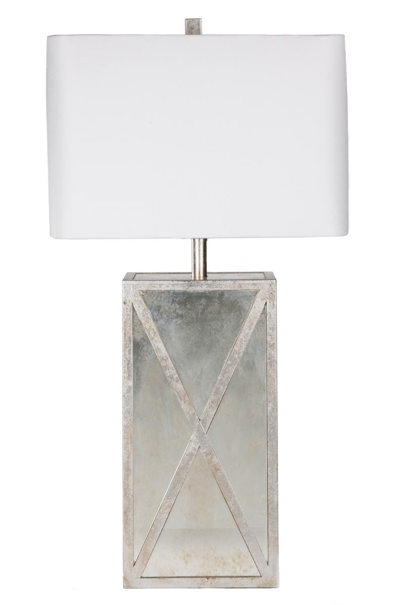 SURYA HOME Jaxon Table Lamp, Main, color, ANTIQUE SILVER