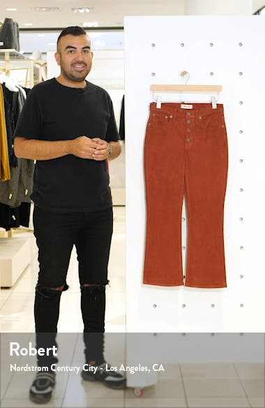 Cali Button Front Demi-Boot Corduroy Pants, sales video thumbnail