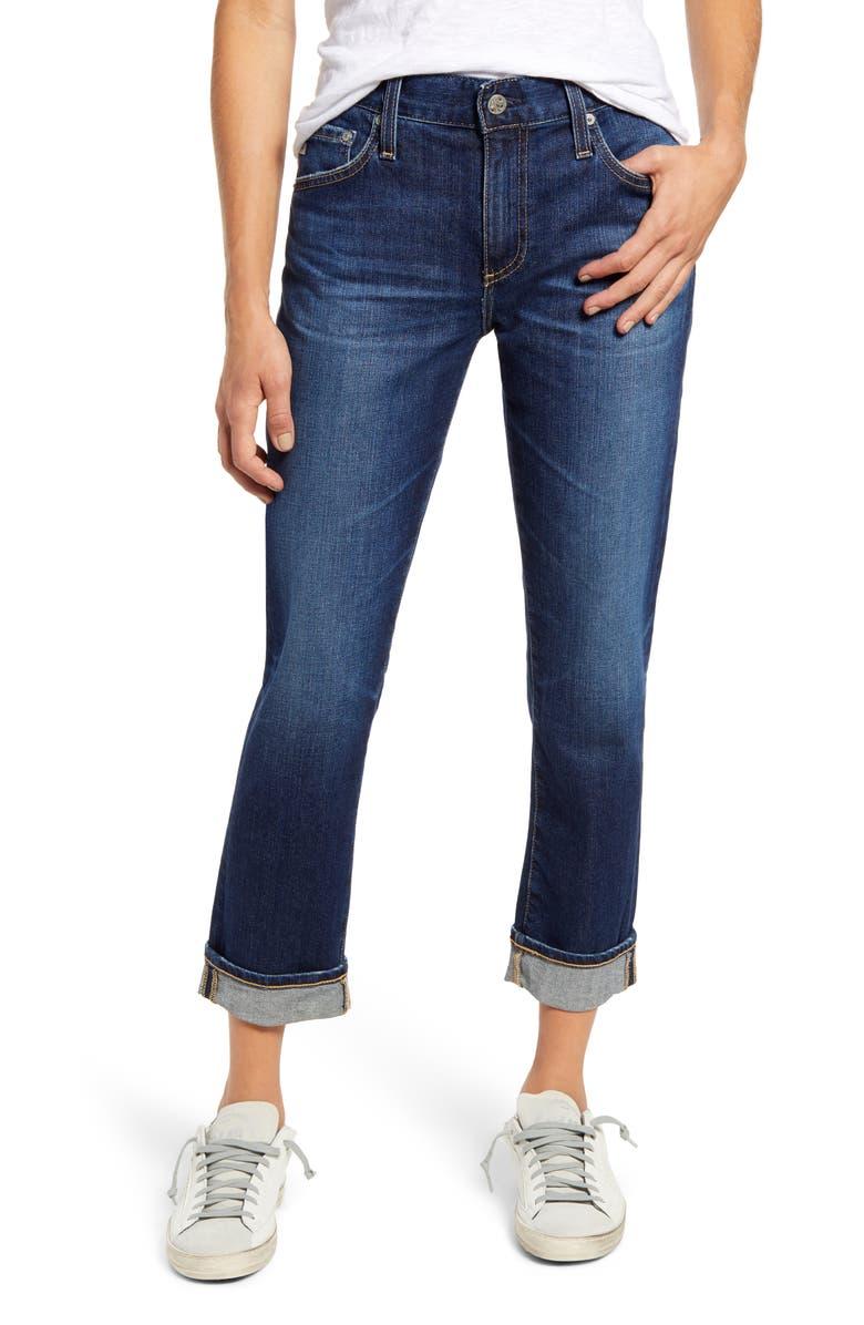 AG Ex-Boyfriend Crop Slim Jeans, Main, color, 406
