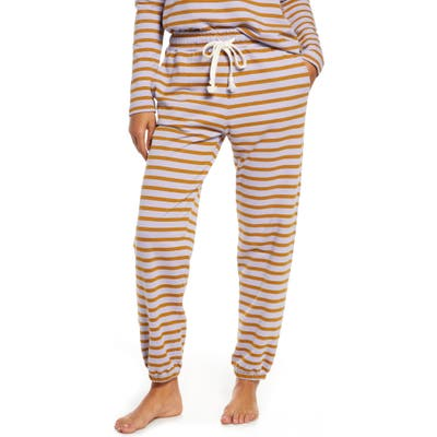 Madewell Stripe Pajama Sweatpants, Purple