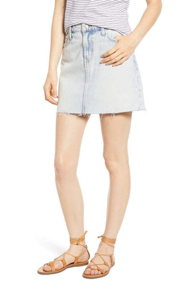 CURRENT/ELLIOTT The Five-Pocket Denim Miniskirt, Main, color, 450