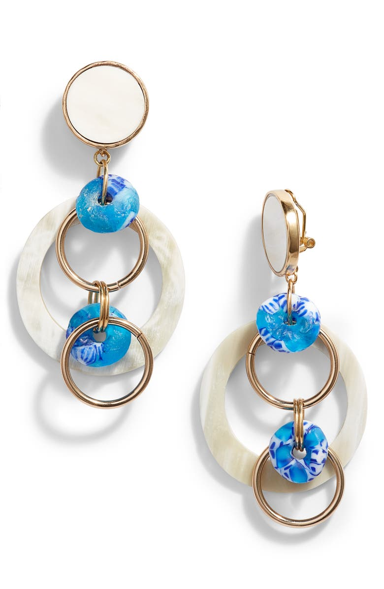 AKOLA Malaika Hoop Drop Earrings, Main, color, 400