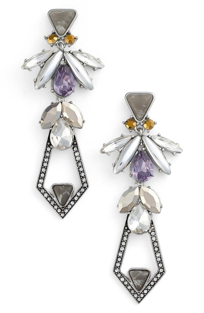 KENT & KING 'Drama' Jewel Drop Earrings, Main, color, 020