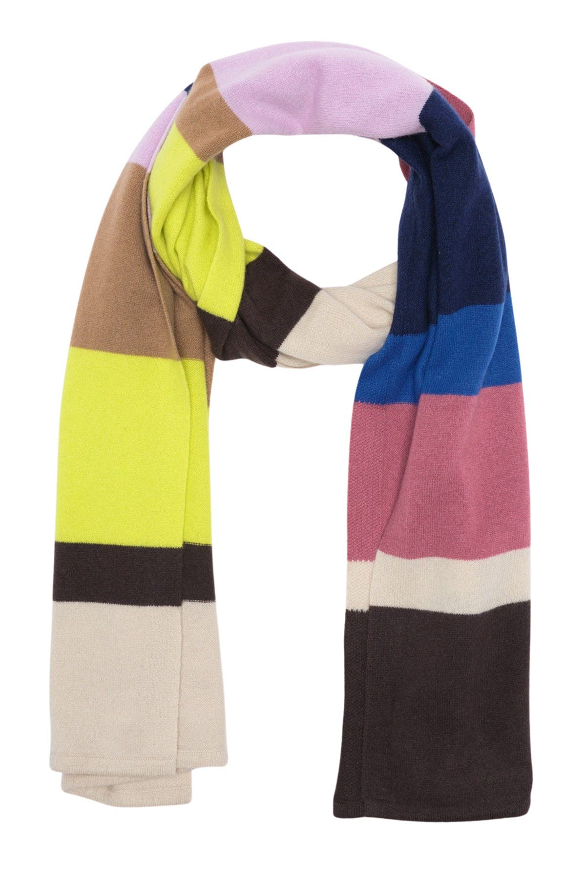 Image of Theory Cashmere Striped Blanket Scarf