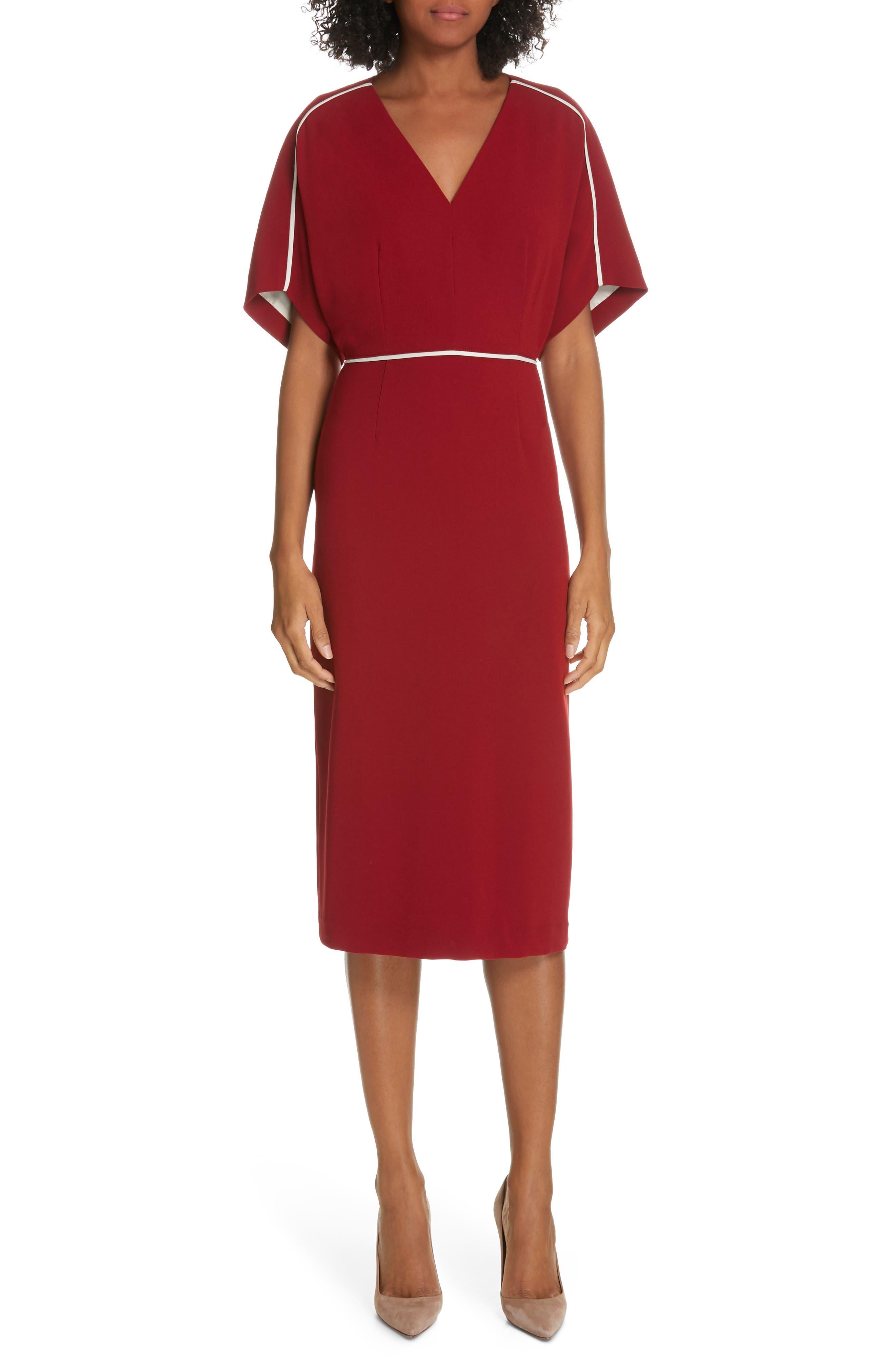 Judith & Charles Juliet Sheath Dress, Red