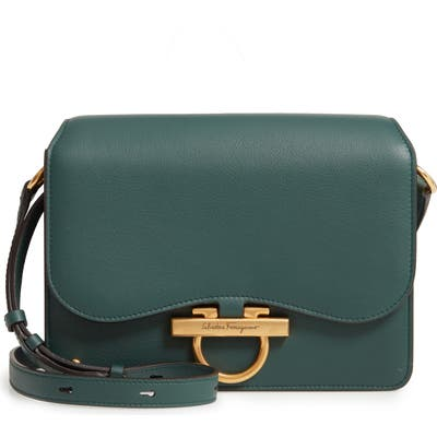 Salvatore Ferragamo Joanne Leather Crossbody Bag - Green