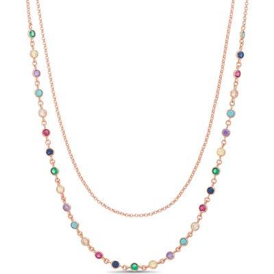 Lesa Michele Bezel Cubic Zirconia Layered Necklace