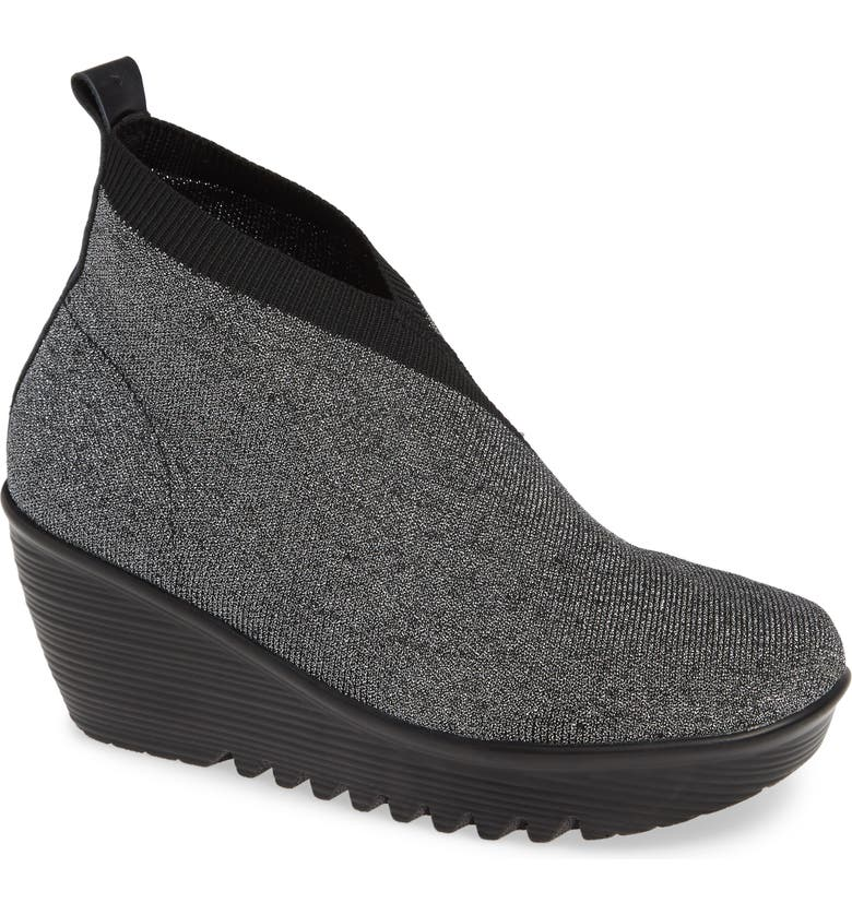 BERNIE MEV. Sally Wedge Bootie, Main, color, PEWTER FABRIC