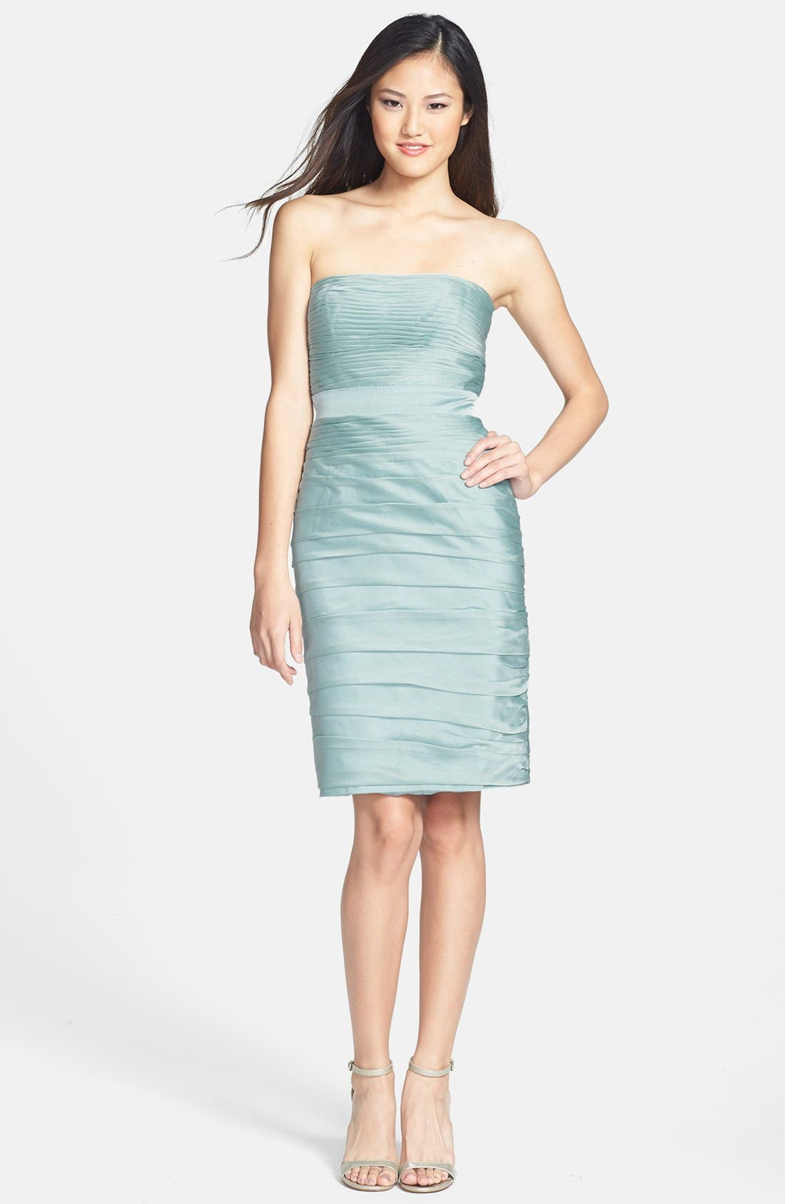 ,                             Ruched Strapless Cationic Chiffon Dress,                             Alternate thumbnail 37, color,                             306