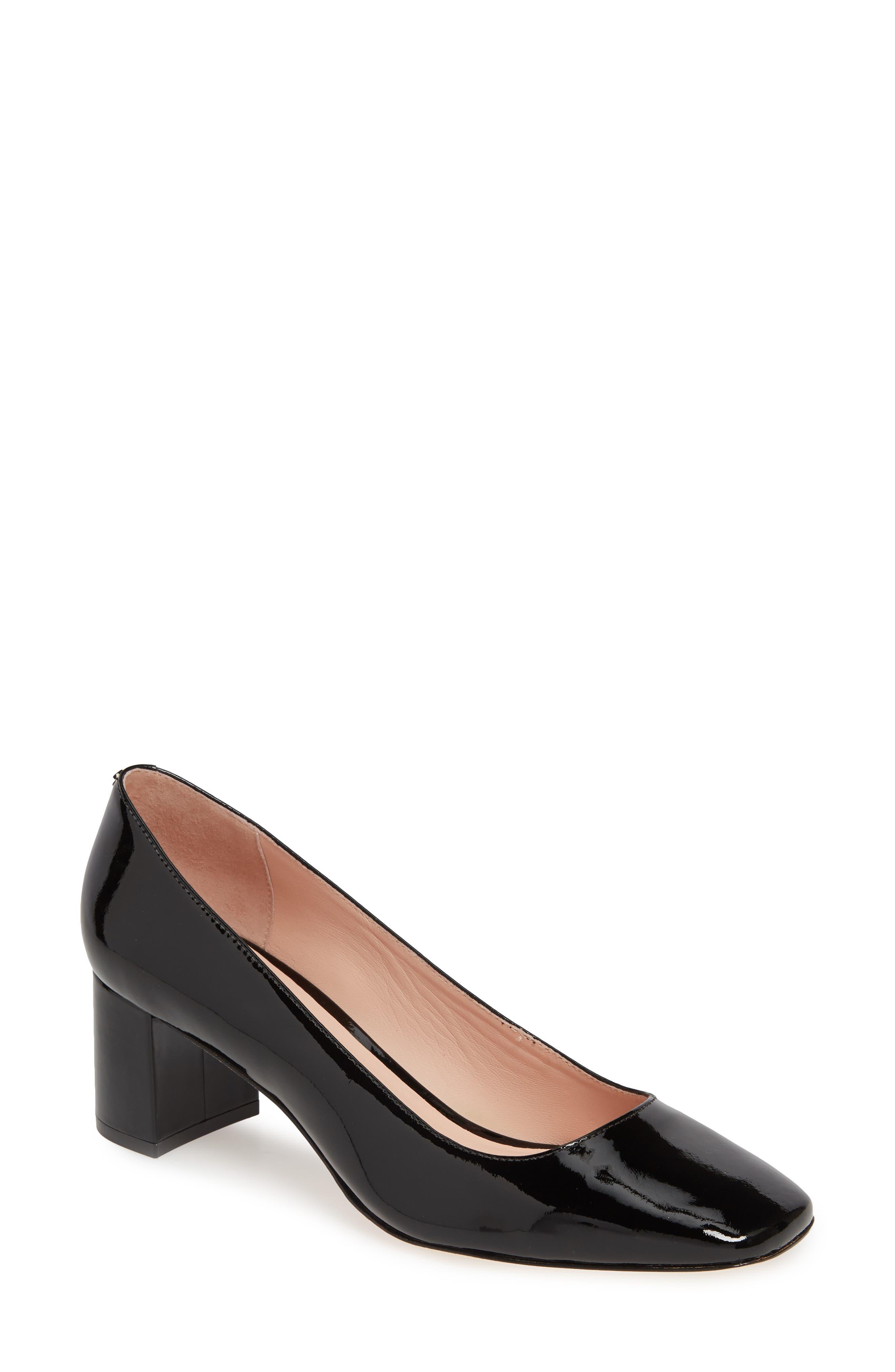 kylah block heel pump, Main, color, BLACK PATENT