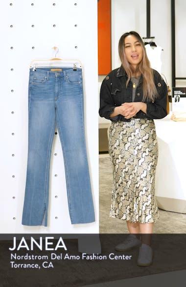 High Waist Vent Hem Microflare Jeans, sales video thumbnail