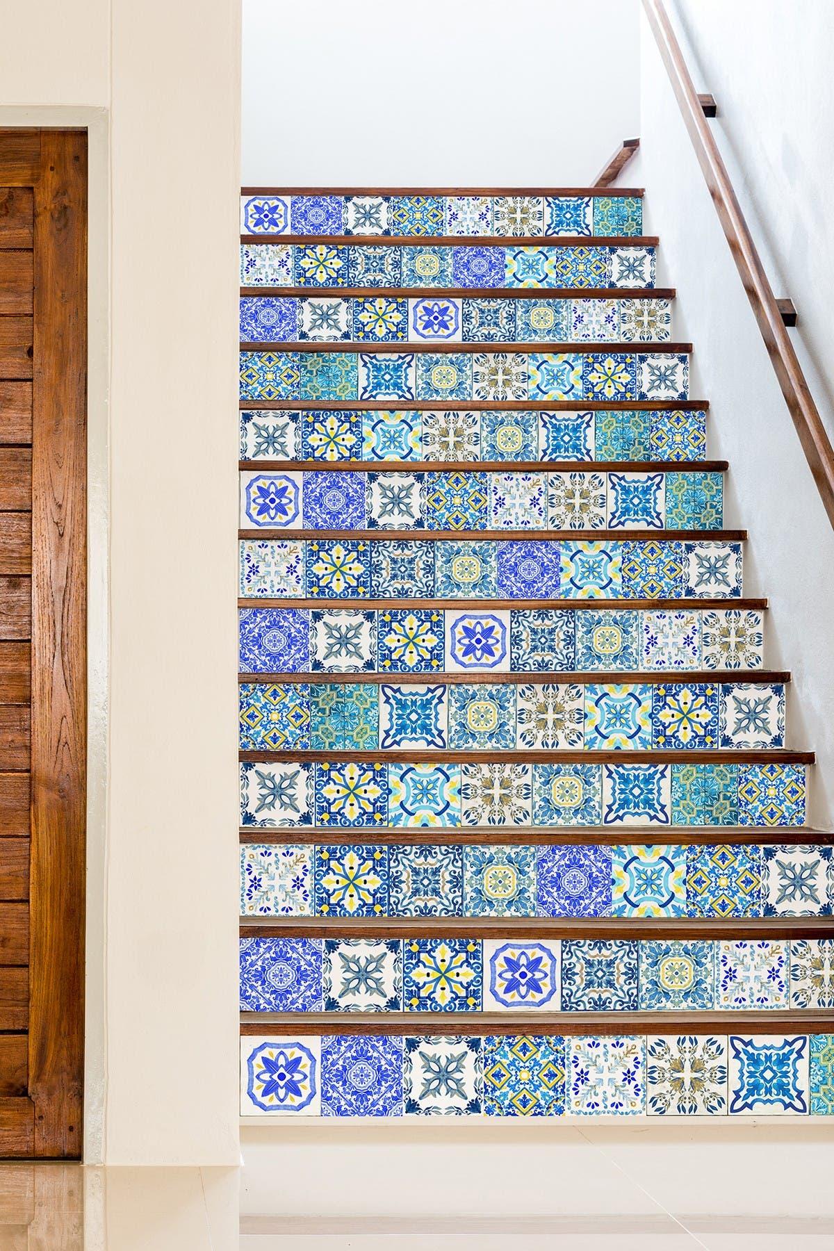Image of WalPlus Blue Skye Classic Mosaic Wall Sticker Decal