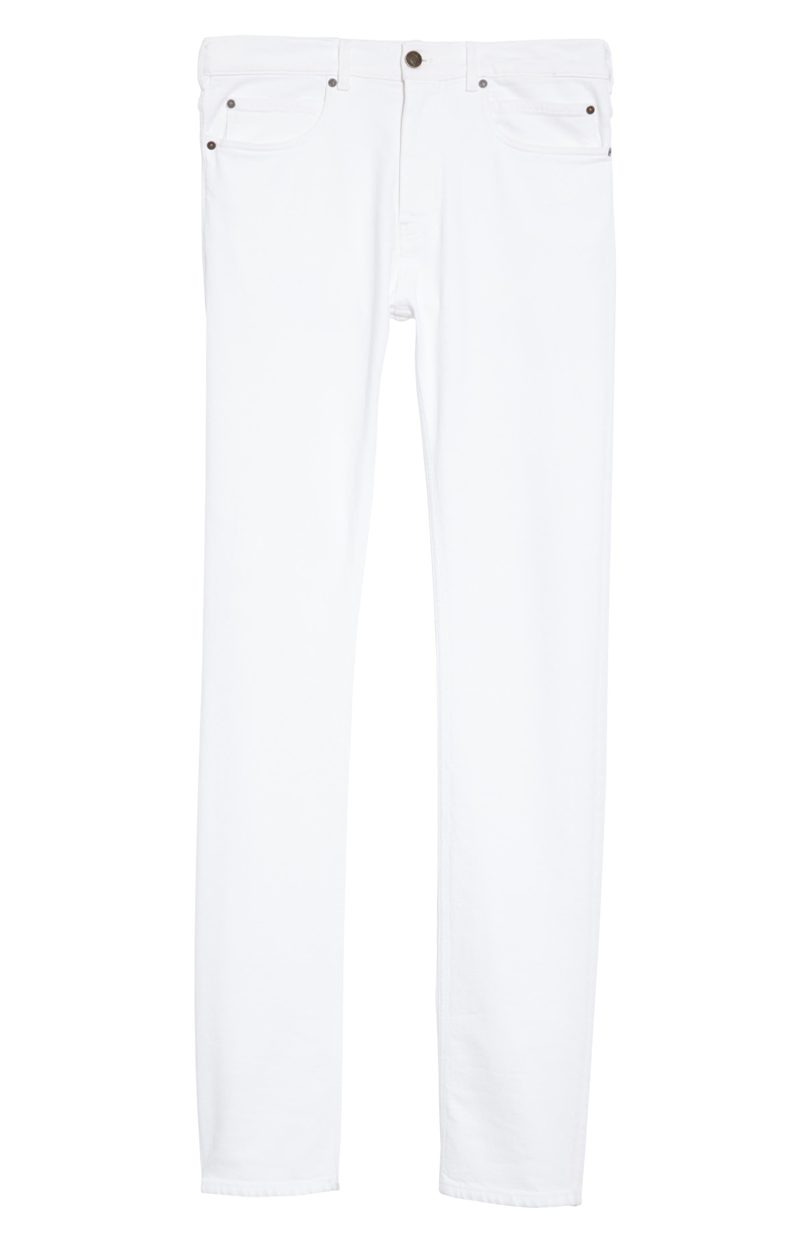 ,                             White Denim Pants,                             Alternate thumbnail 6, color,                             OPTIC WHITE